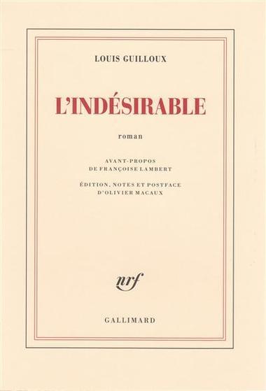 L'Indésirable, un premier roman inédit de Louis Guilloux